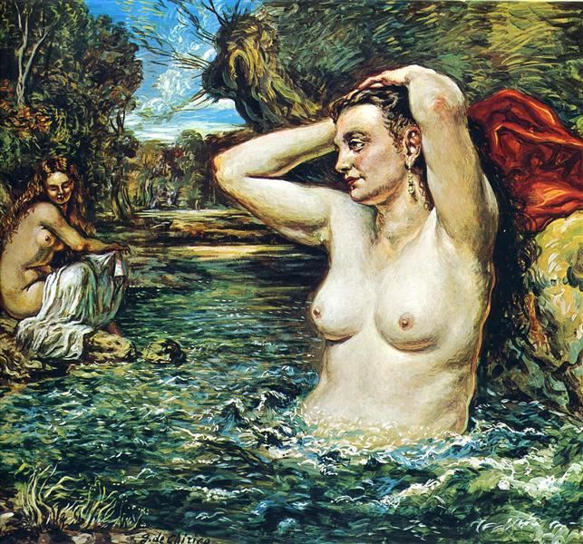 Nymphs bathing - Giorgio de Chirico