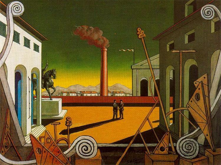 Plaza Italia (Great Game), 1971 - Giorgio de Chirico