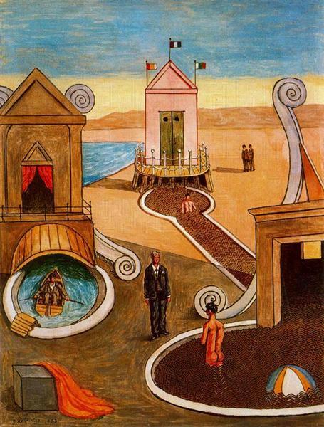 Загадочная купальня, 1968 - Джорджо де Кирико