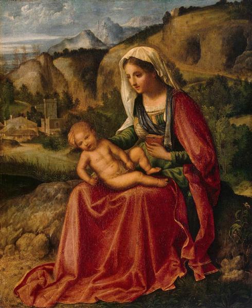 Madonna and Child in a Landscape, 1504 - Giorgione