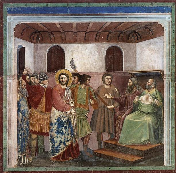 Christ Before Caiaphas, c.1305 - Giotto