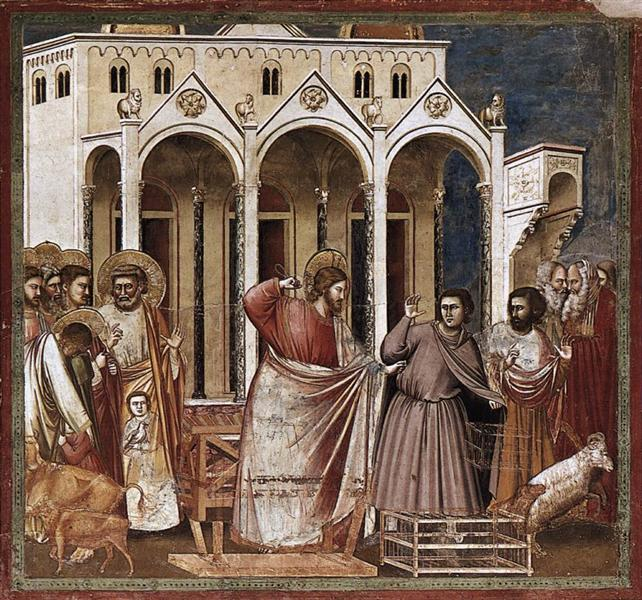 Expulsion of the Money-changers, c.1304 - c.1306 - Giotto