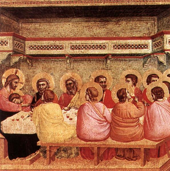 Last Supper, c.1320 - c.1325 - Giotto