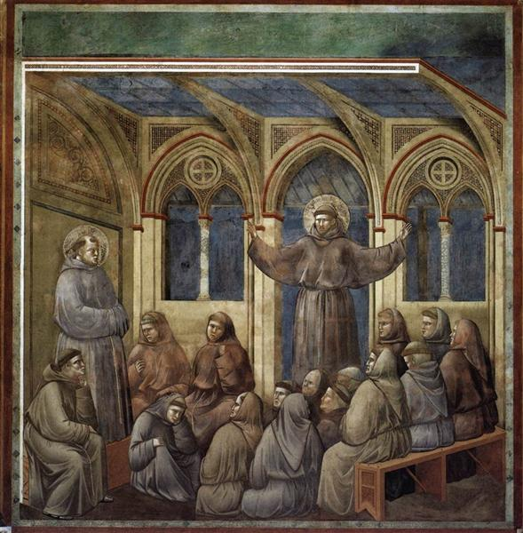 The Apparition at the Chapter House at Arles, 1297 - 1300 - Giotto