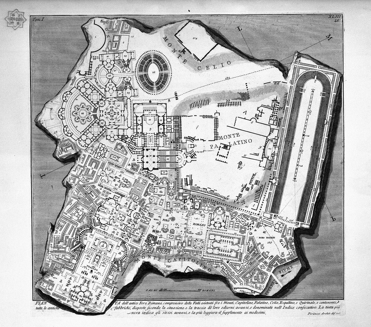 The Roman antiquities, t. 1, Plate XLII. Plan of the Baths of Diocletian, 1756