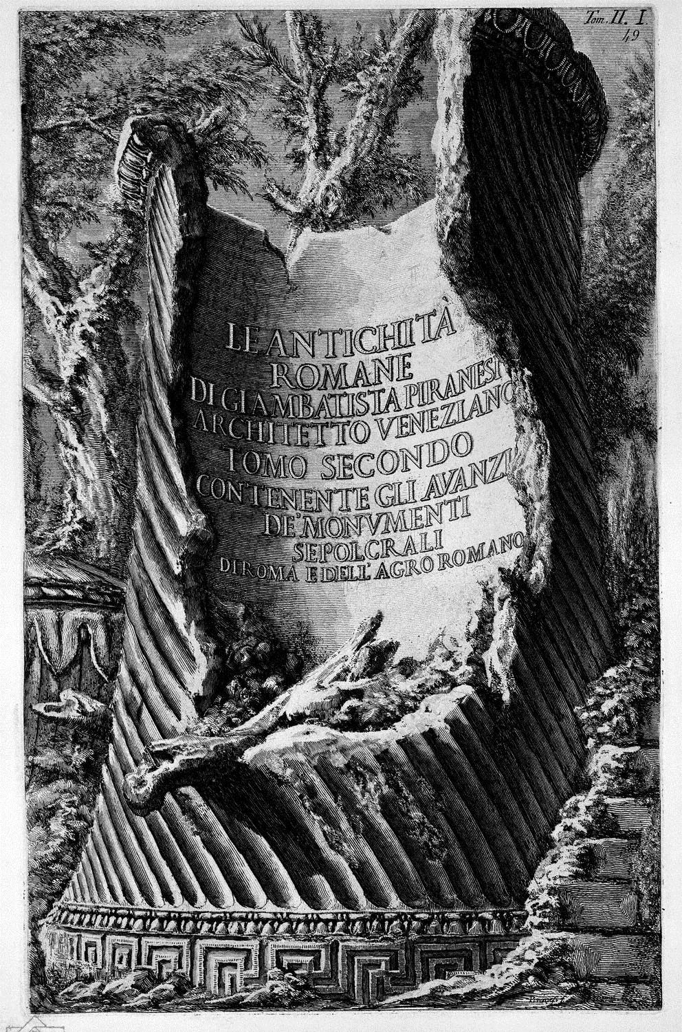 The Roman antiquities, t. 1, Plate XLVI. Plan of the lower part of the `Palace of the Caesars believed the Baths Palatine (Drawing and inc. By Francesco Piranesi), 1756