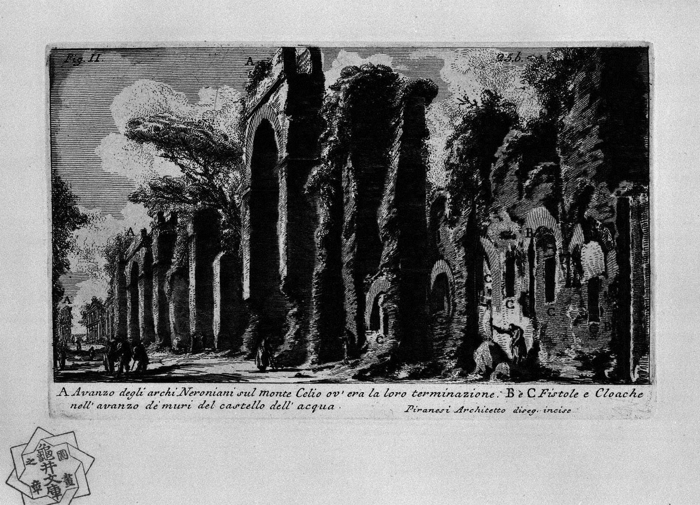 The Roman antiquities, t. 1, Plate XXIV. Nero`s aqueduct., 1756