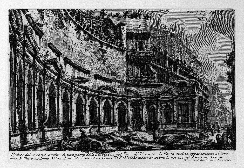 The Roman antiquities, t. 1, Plate XXIX. Trajan`s Market., 1756