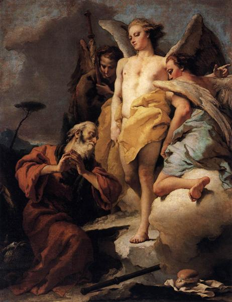 Abraham and the Three Angels, c.1770 - Giovanni Battista Tiepolo