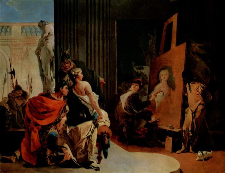 Alexander the Great and Campaspe in the Studio of Apelles, c.1725 - c.1726 - Giovanni Battista Tiepolo