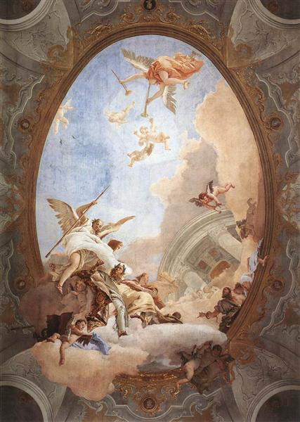 Allegory of Merit Accompanied by Nobility and Virtue, 1757 - 1758 - Giovanni Battista Tiepolo