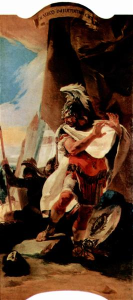 Hannibal looks at the head of Hasdrubal, c.1725 - c.1730 - Giovanni Battista Tiepolo
