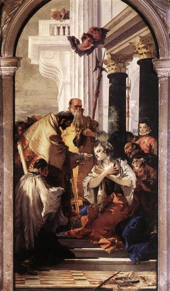 Last Communion of St Lucy, 1747 - 1748 - Giovanni Battista Tiepolo