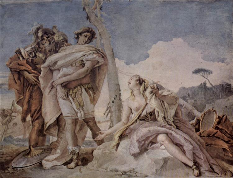 Rinaldo Abandoning Armida, 1757 - Giovanni Battista Tiepolo