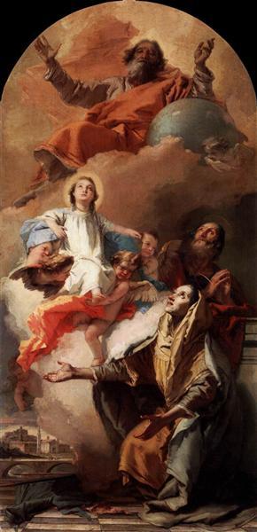 St. Anne's Vision, 1759 - Джованні Баттіста Тьєполо