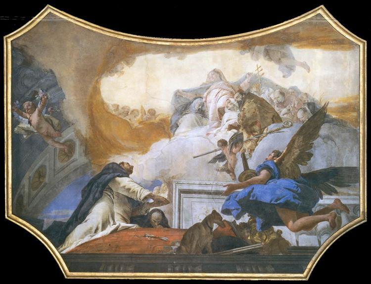 The Virgin Appearing to St Dominic, 1737 - 1739 - Giovanni Battista Tiepolo