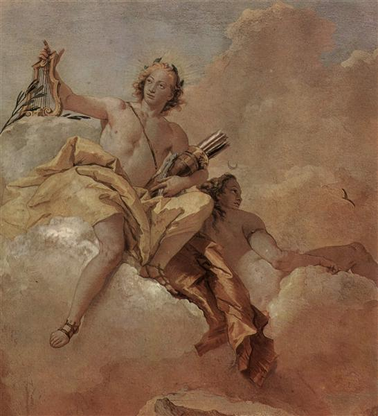 Apollo and Diana, 1757 - Giovanni Domenico Tiepolo