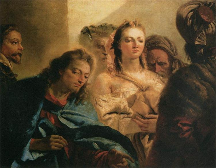 Christ and the Adulteress, 1751 - Giovanni Domenico Tiepolo