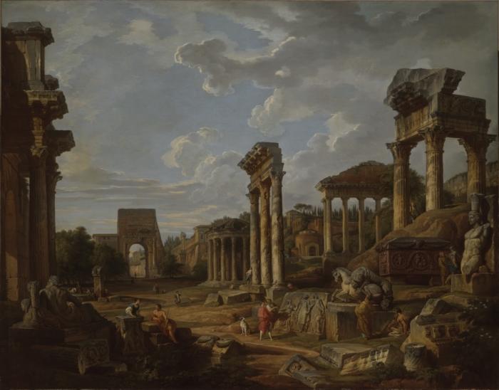 A Capriccio of the Roman Forum, 1741 - Giovanni Paolo Pannini