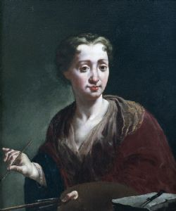 Self-portrait, 1725 - Giulia Lama