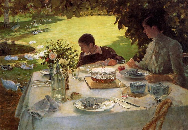 Breakfast in the Garden, 1883 - Giuseppe De Nittis
