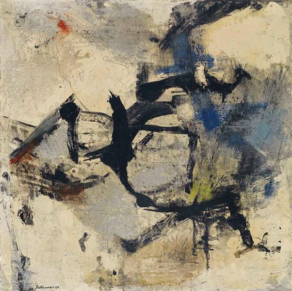 Bianco e nero di Spagna, 1959 - Giuseppe Santomaso