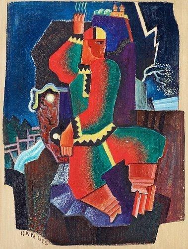 Rödgrön figur, 1923