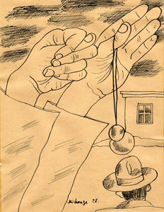 Untitled Drawing, 1928 - Грегуар Мишонц