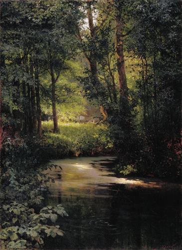 Creek in the forest - Grigoriy Myasoyedov