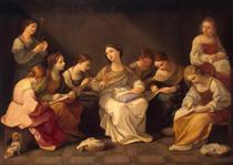 Education of the Virgin - Guido Reni