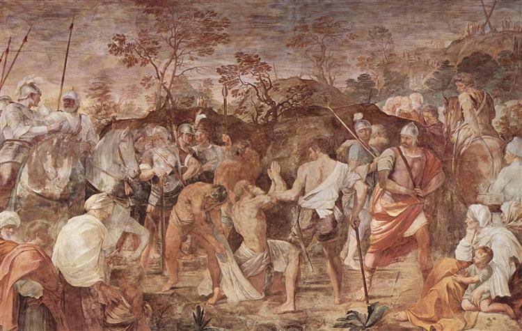 Martirio de San Andrés (introducción a la Crucifixión) - Guido Reni