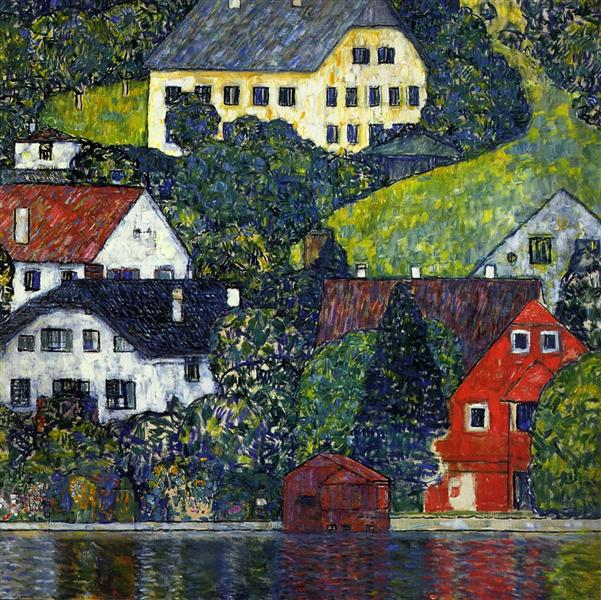 Houses at Unterach on the Attersee, c.1916 - Gustav Klimt