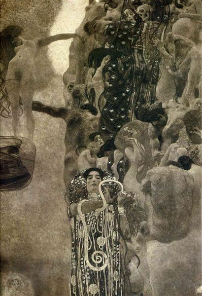 University of Vienna Ceiling Paintings (Medicine), final state, 1900 - 1907 - Gustav Klimt