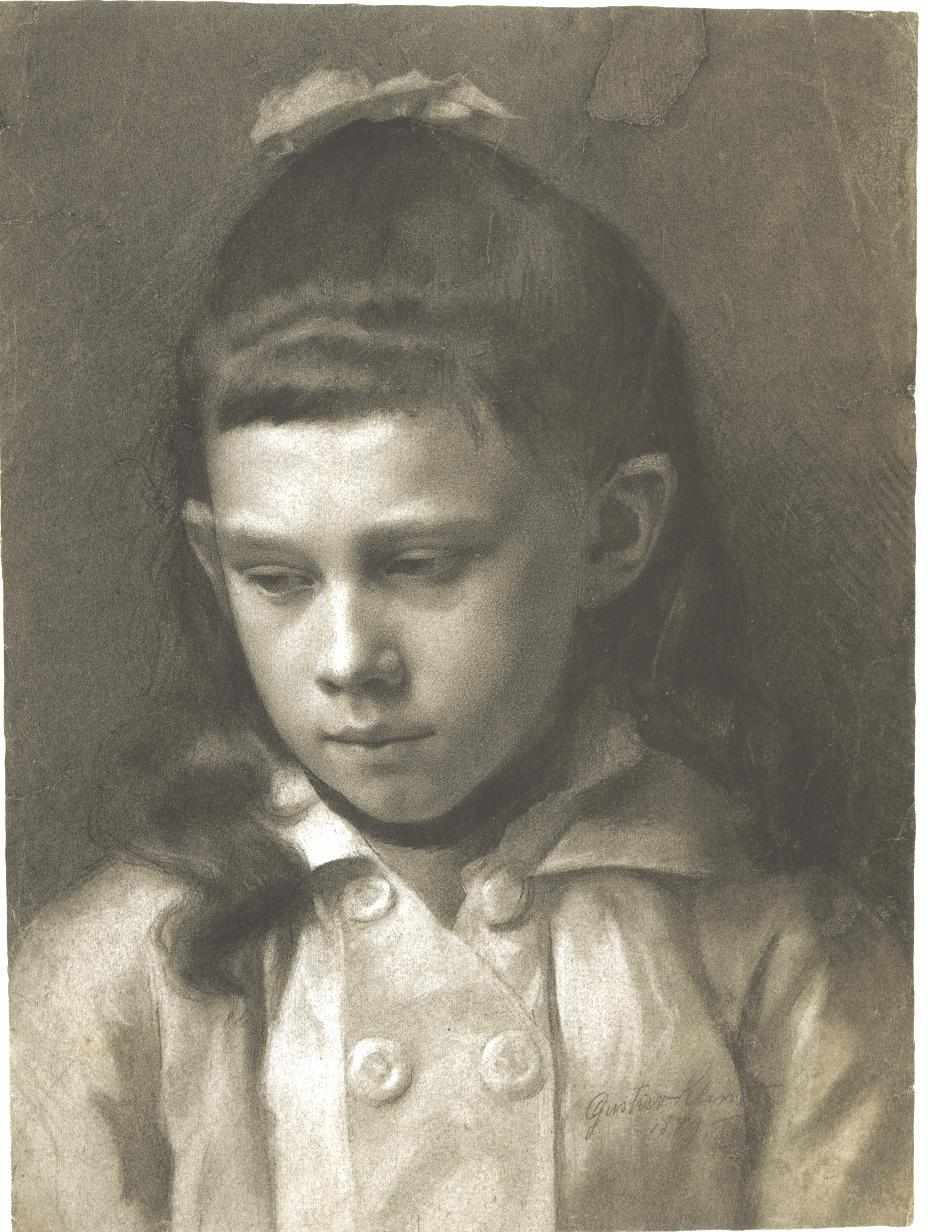 Portrait of a Girl, Head Slightly Turned Left, 1879
