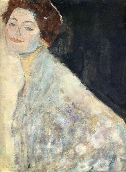 Portrait of a Lady in White (unfinished), 1917 - 1918 - Gustav Klimt