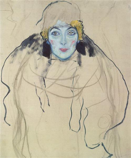 Portrait of a Lady (unfinished), 1917 - 1918 - Gustav Klimt