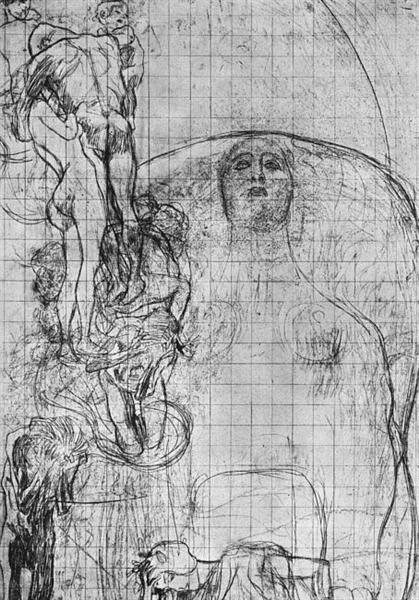 Study for Philosophy, 1898 - 1899 - Gustav Klimt