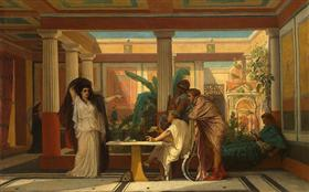 Theatrical Rehearsal in the House of an Ancient Rome Poet - Gustave Boulanger