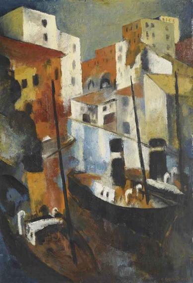 Hafenstadt, 1955 - Gustave Buchet