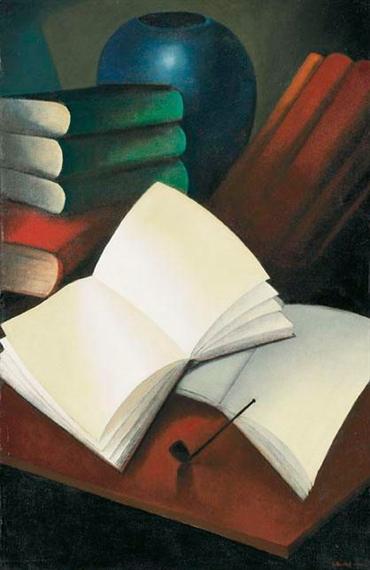 Nature morte avec des livres, 1941 - Gustave Buchet