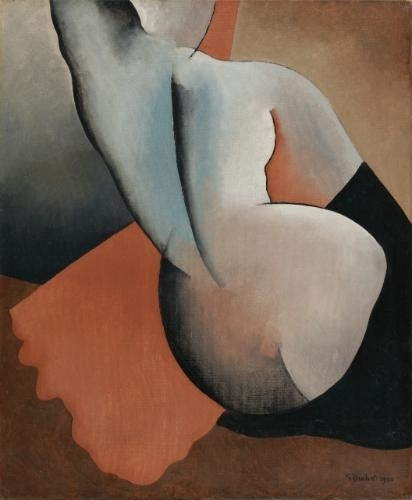 Nude seen from back, 1930