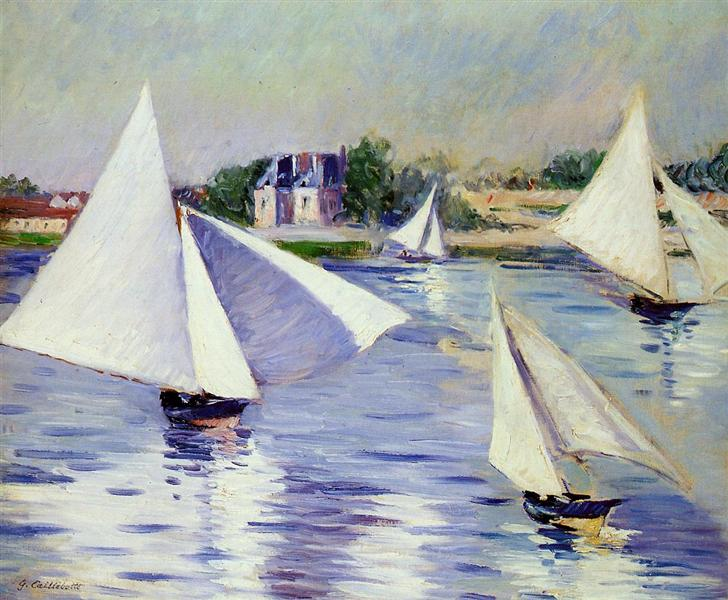 Sailboats on  the Seine at Argenteuil, 1892 - Gustave Caillebotte