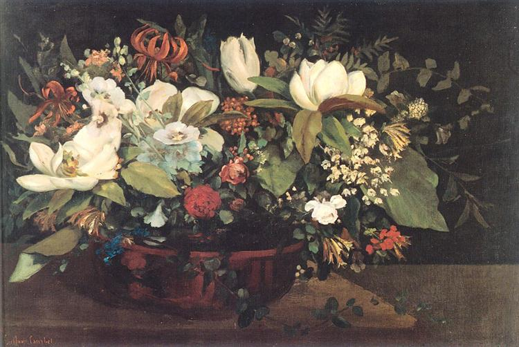 Basket of Flowers, 1863 - Gustave Courbet