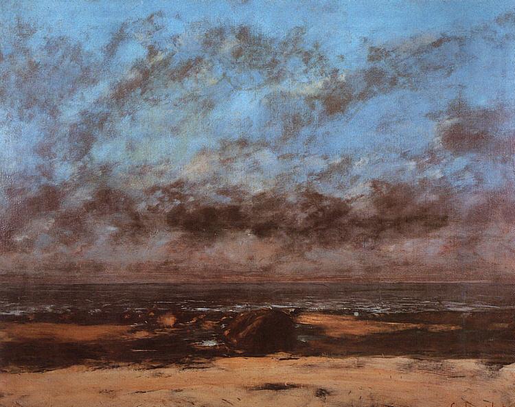 Низький прибій, 1865 - Ґюстав Курбе