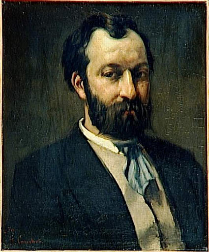 Portrait of Jules Antoine Castagnary, 1870 - Gustave Courbet