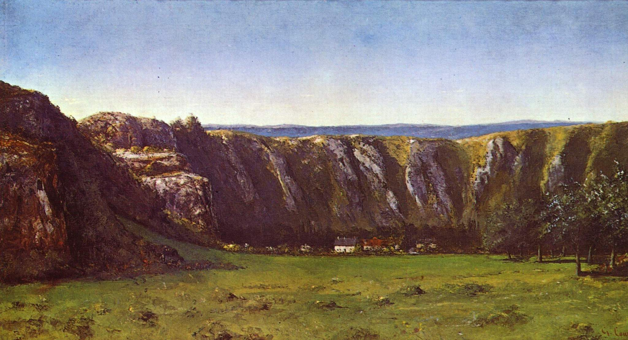 Rocky landscape near flagey gustave courbet wikiart for Nearby landscapers