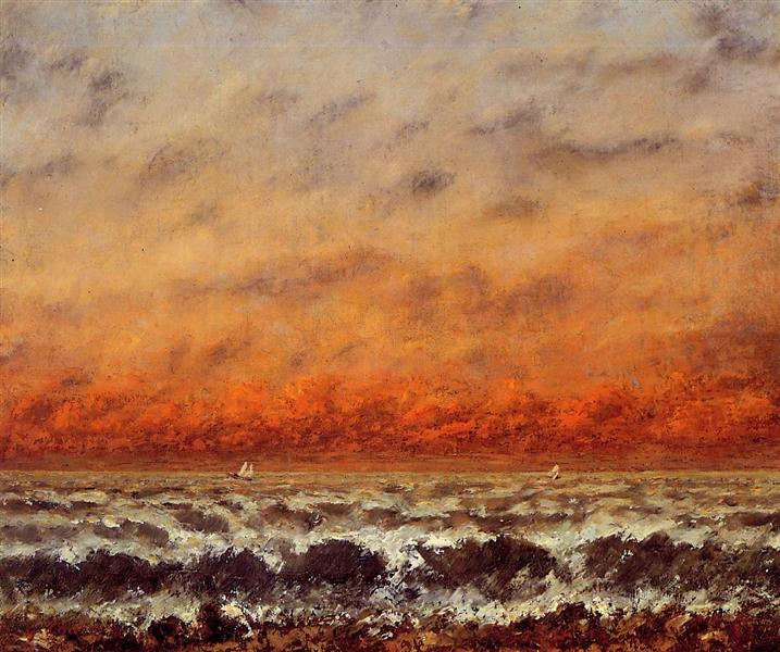 Морской пейзаж, 1874 - Гюстав Курбе