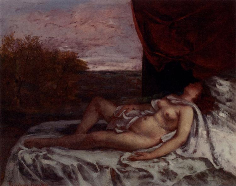 Sleeping Nude - Gustave Courbet