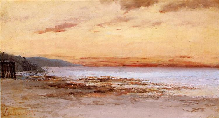 The Beach at Trouville - Gustave Courbet