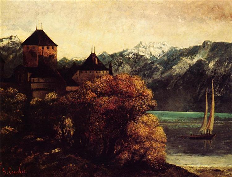 Шильонский замок (Замок Шийон), c.1874 - Гюстав Курбе